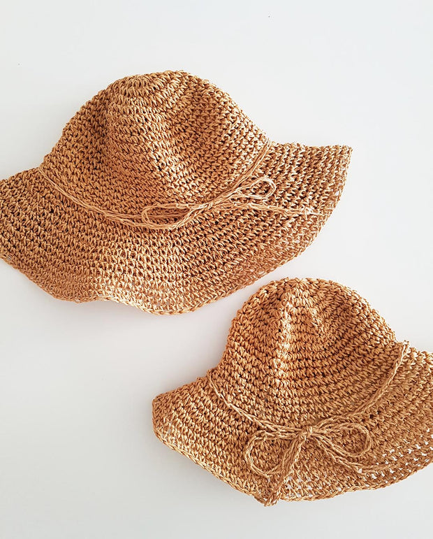 MATCHING Mums and Girls Sun Hat - Brown