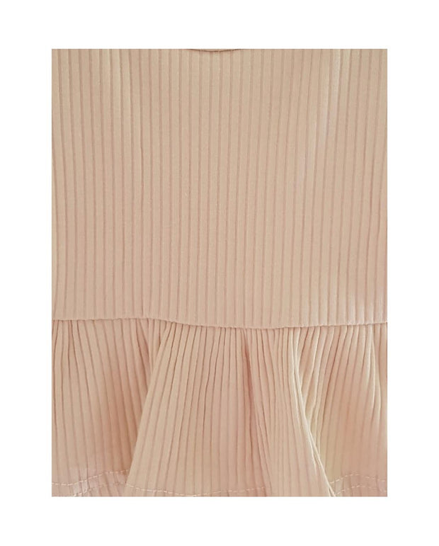 Baby Girls Beige Ribbed Cotton Jersey  Shorties (3-6m to 3T)