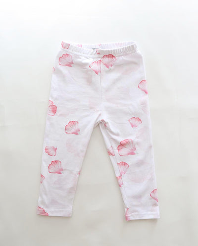 Girls Aerin Pink Petal Cotton Jersey Leggings (Limited Edition Print) Up To 5T