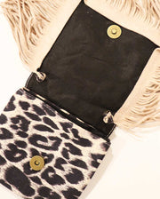 Girls Mini Bohemian Leopard Tassel Suede Cross Body and Shoulder Bag
