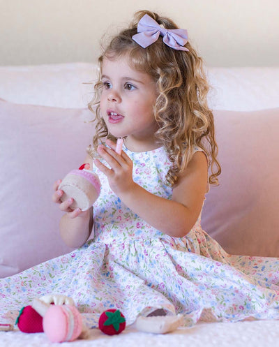 Girls Annabelle Floral Cotton Dress (Design in Australia)
