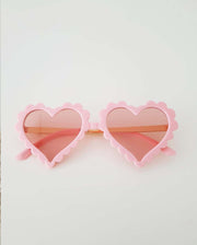 The Eyes of Pearlie : Heart Pink Frame Light Pink Lens Sunglasses (1-8Yrs)