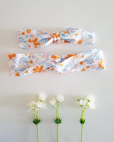 MATCHING Mums and Girls Summer Floral Stretch Headband