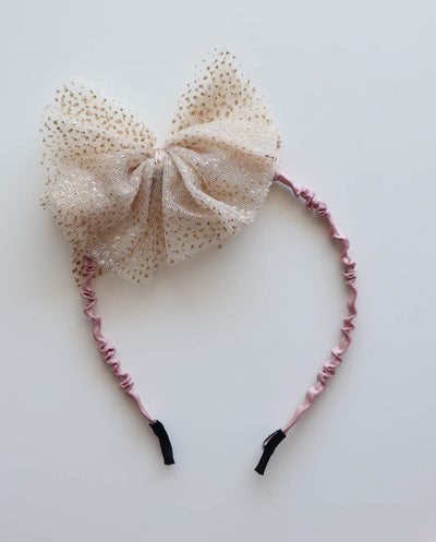 Girls Gold Tulle Headband