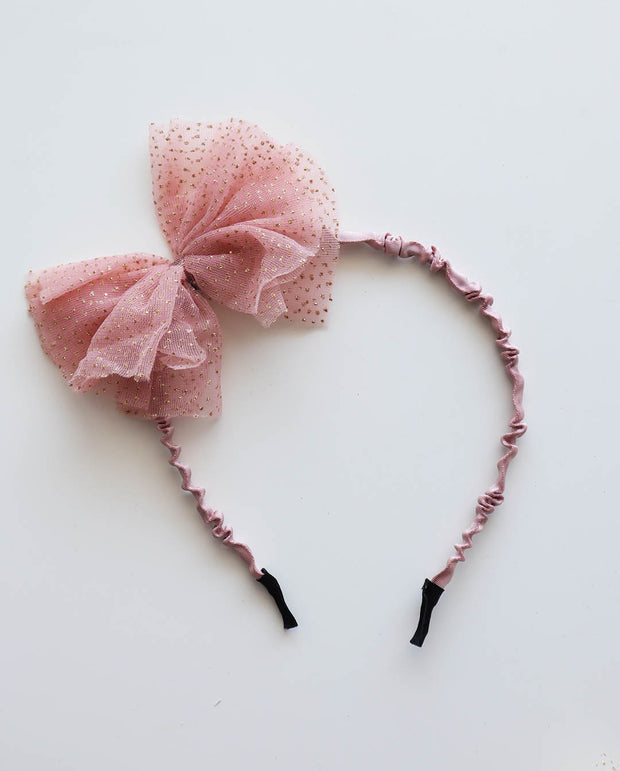 Girls Pink Tulle Headband