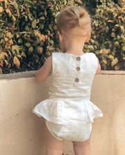 Baby Girls Valentina Embroidered Cotton Romper