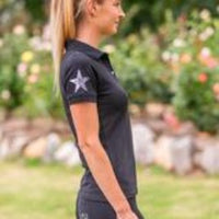 BARE polo shirt featuring sequin star on sleeve