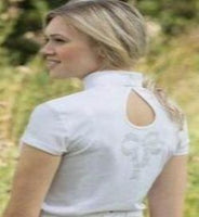 Equetech crystal bow detail comp shirt