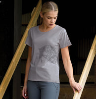 T Shirt by Equetech, Jumping horse Motif