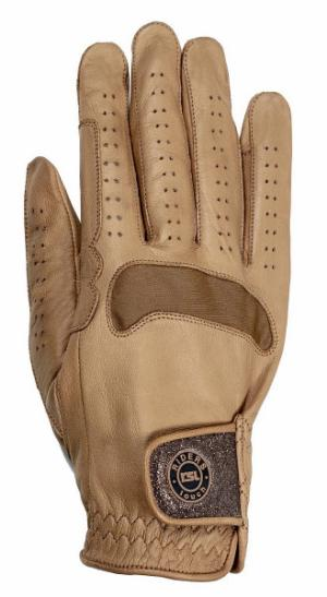 Paris - Leather riding gloves with Glitter closure