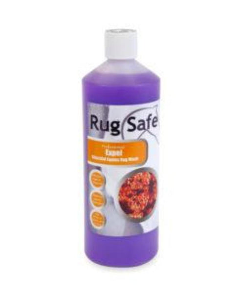 Bottle of Rug Safe Antibaterial Rug Wash