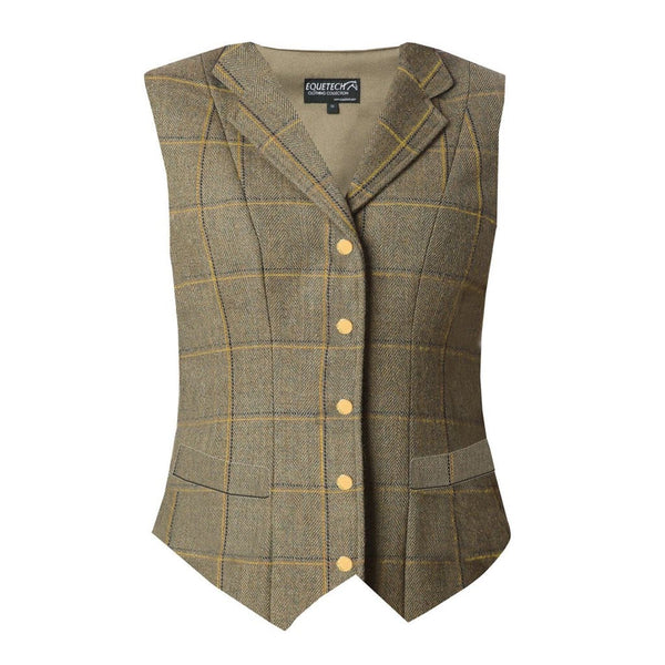 EQUETECH KENSWORTH LAPEL TWEED WAISTCOAT