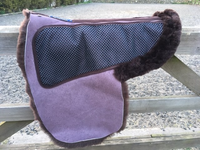 Luxurious Sheepskin Numnah with non slip grip Section