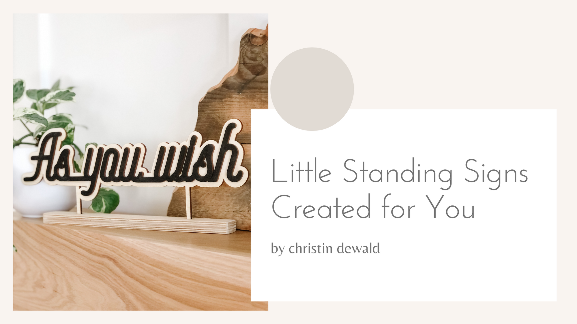 Little Word Stands Created for You
