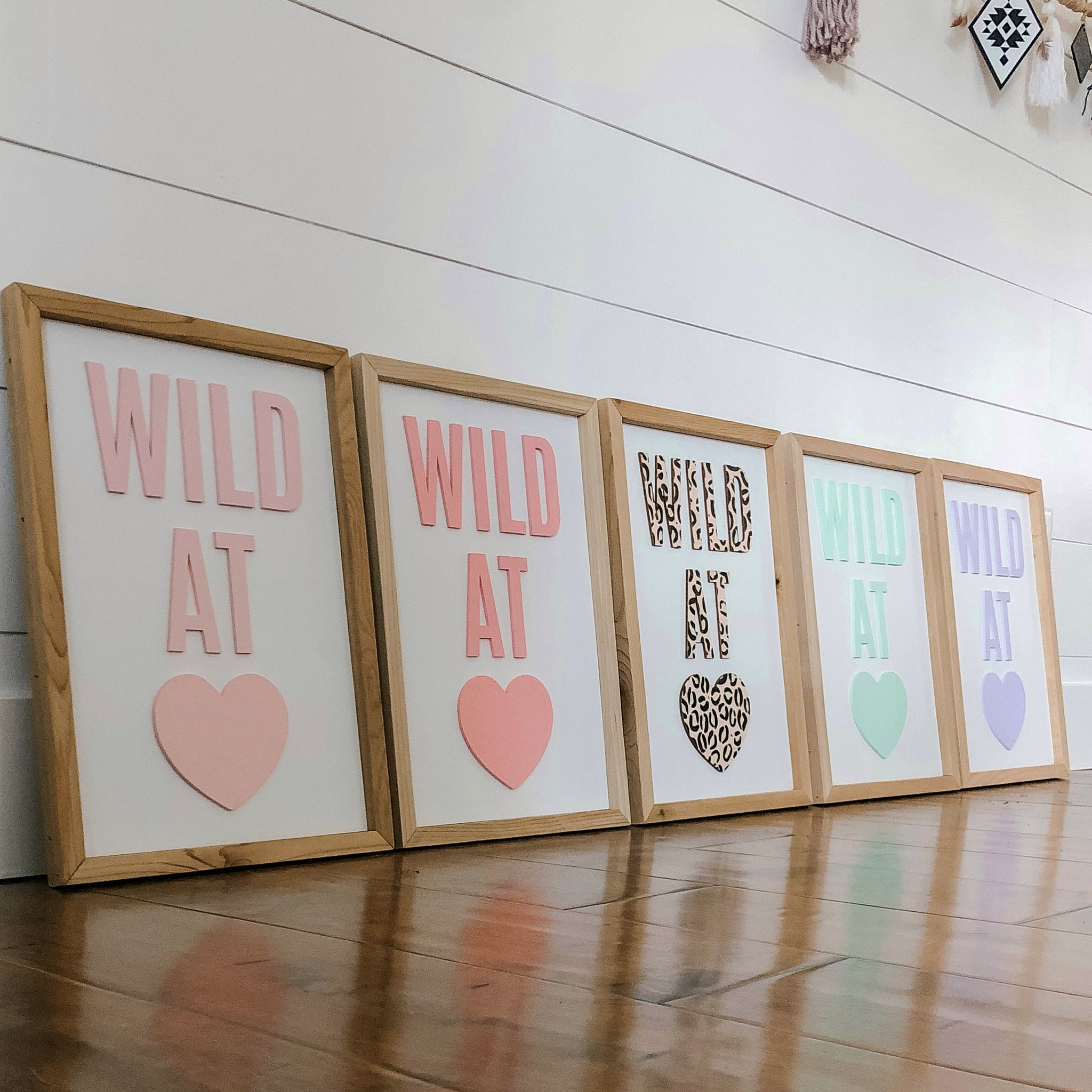 Wild at Heart Mint Green Sign