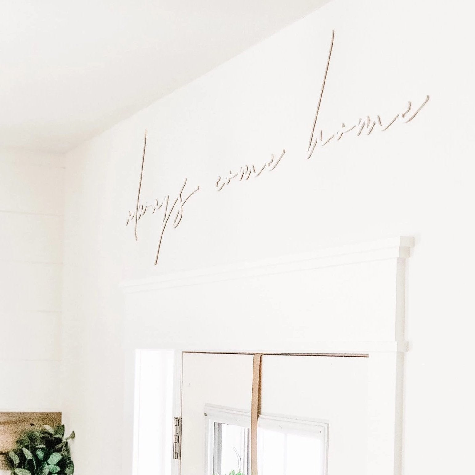 Always Come Home Wall Words