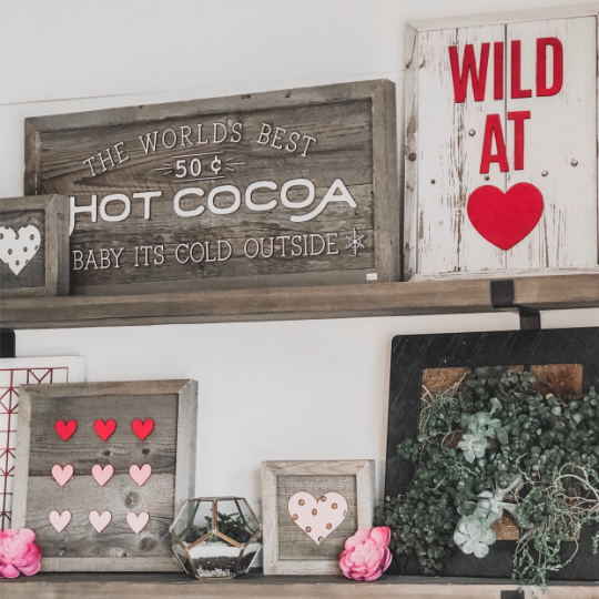 Variegated Hearts Sign