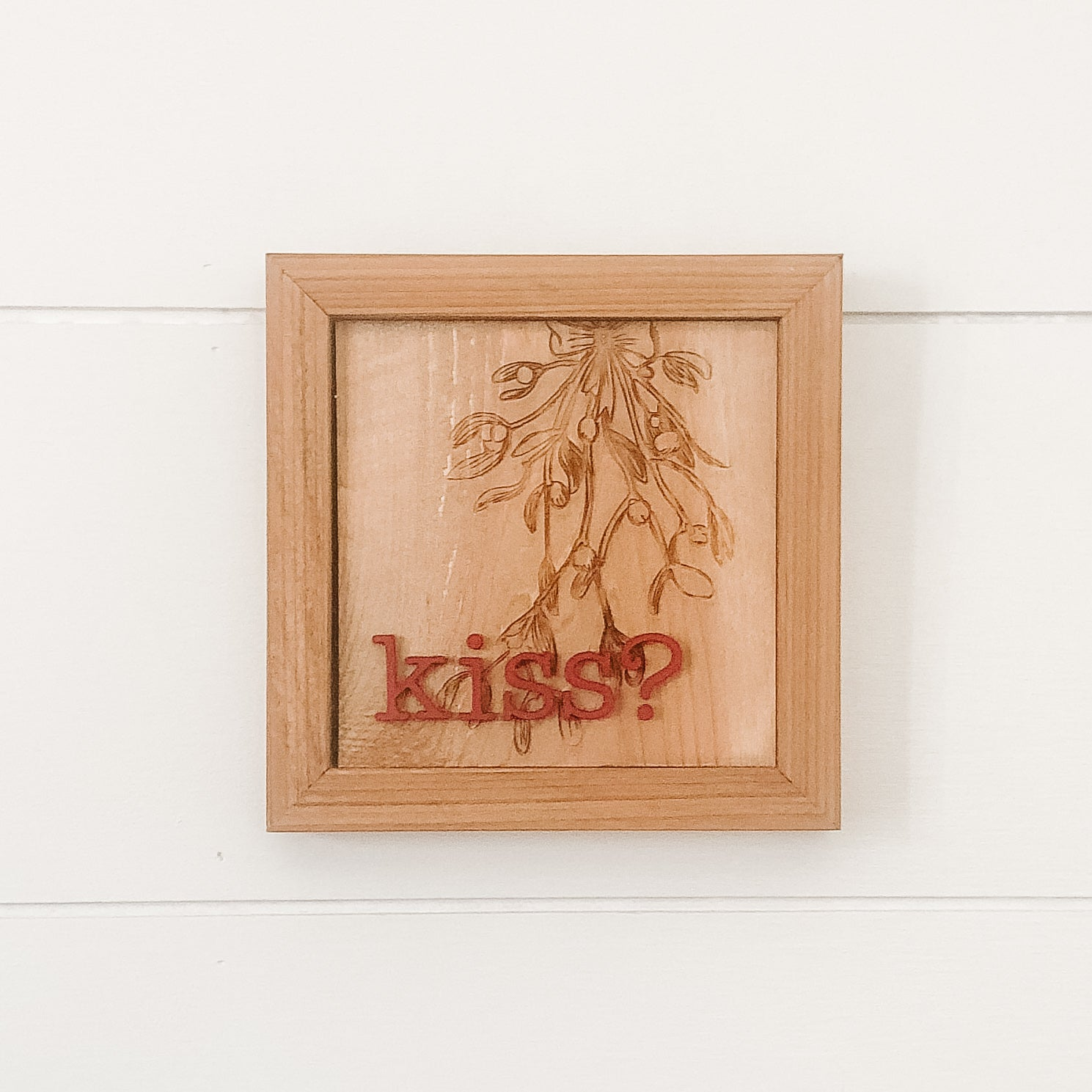 Mistletoe Kiss Sign
