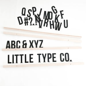 Little Type Co Small Font Farmhouse Set