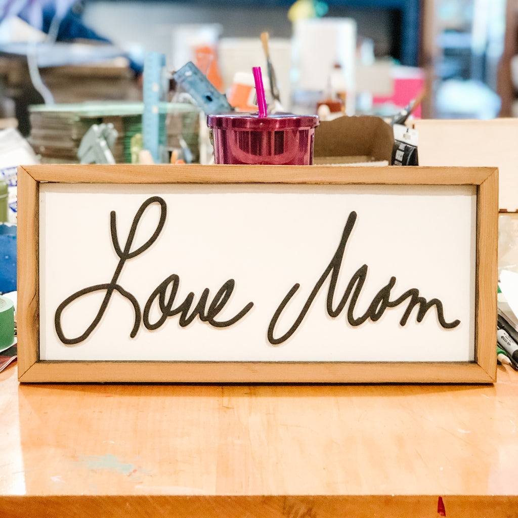 Personalized Writing Sign (Medium)