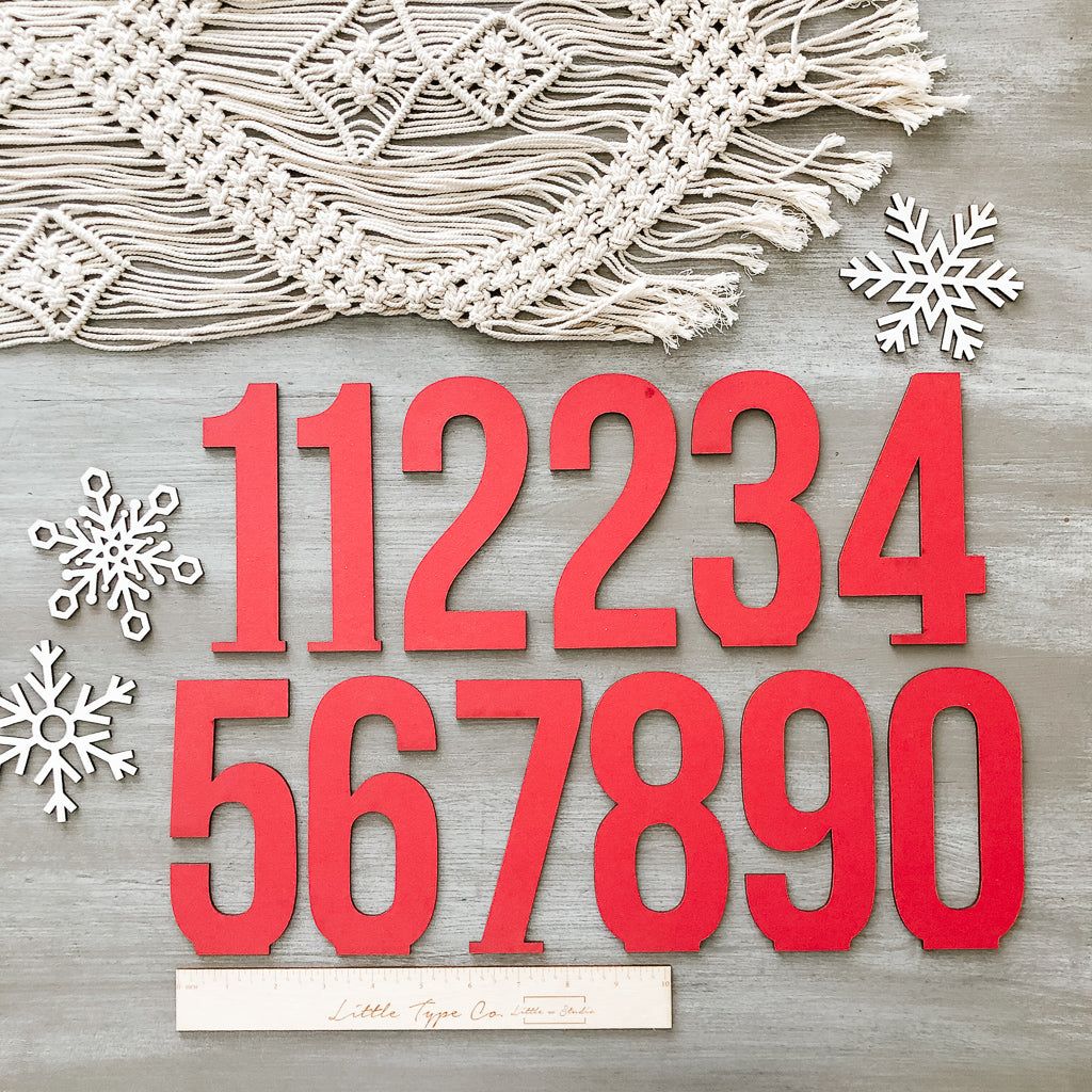 Little Type Co Advent Numbers Accessory