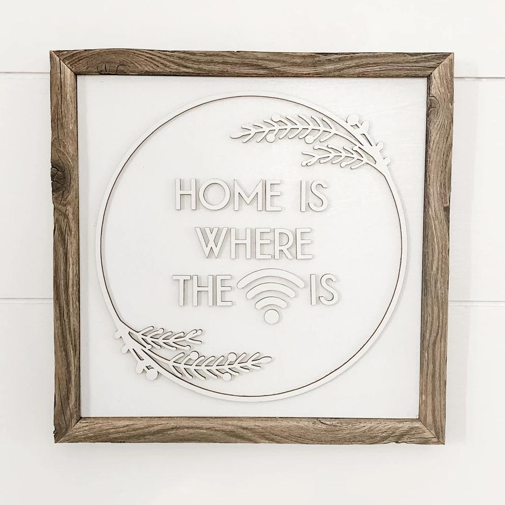 Home is Where the Wifi Is Sign