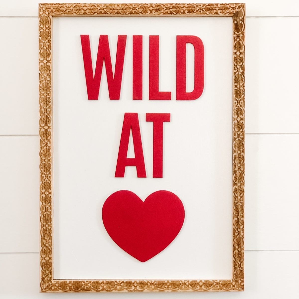 Wholesale - Wild at Heart Sign with Engraved Frame