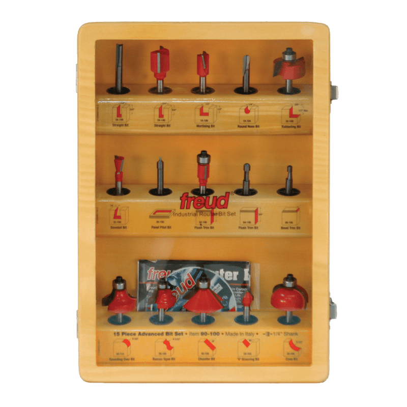Freud Router Bit Set - 15 Piece Advanced Bit Set