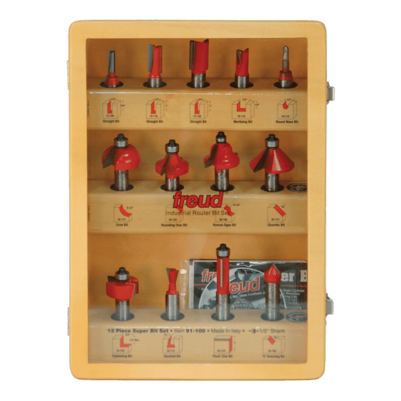 Freud Router Bit Set - 13 Piece Super Bit Set