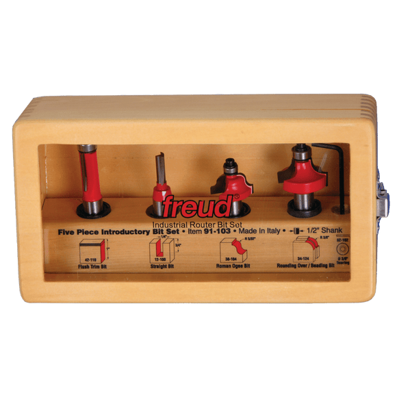 Freud Router Bit Set - 5 Piece Introductory Set