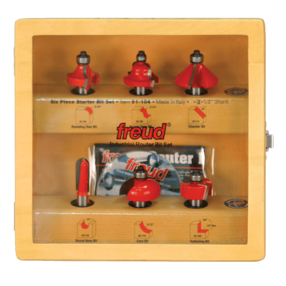 Freud Router Bit Set - 6 Piece Starter Bit Set