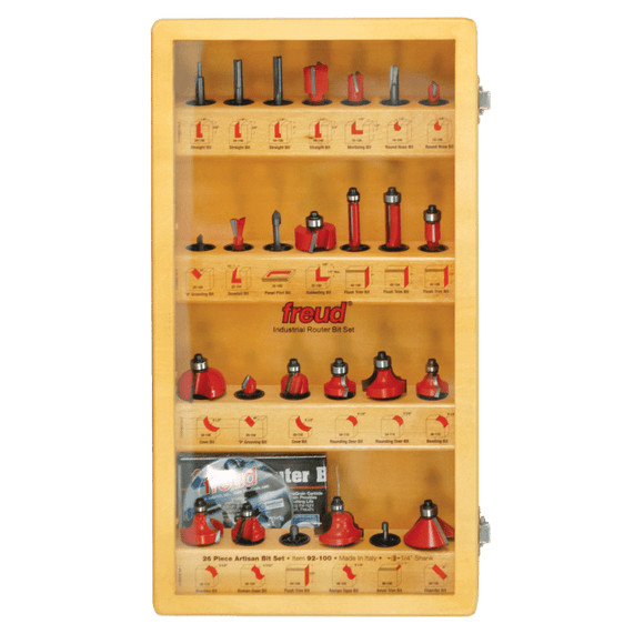 Freud Router Bit Set : 26 Piece Artisan Bit Set