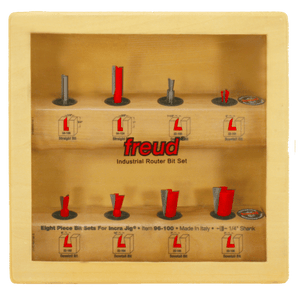 Freud Router Bit Set - 8 Piece Bit Sets for Incra Jig®