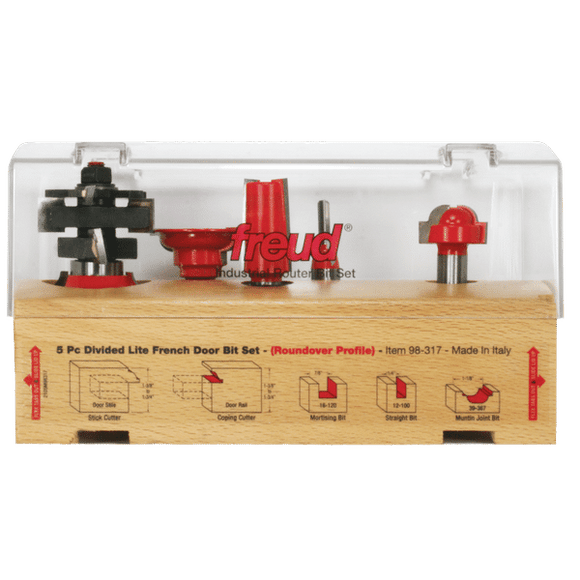Freud Router Bit Set  - 5 Piece French Door Bit Set