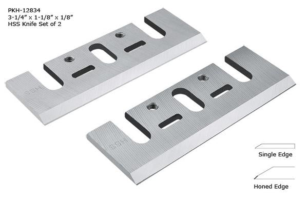 "3-1/4""� x 1-1/8""� x 1/8""� """" HSS Knife set of 10 for Electric Handheld Planers (DeWalt, Makita)"