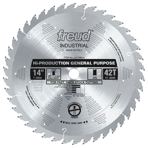 LU71M014 Freud High-Production General Purpose Saw Blade
