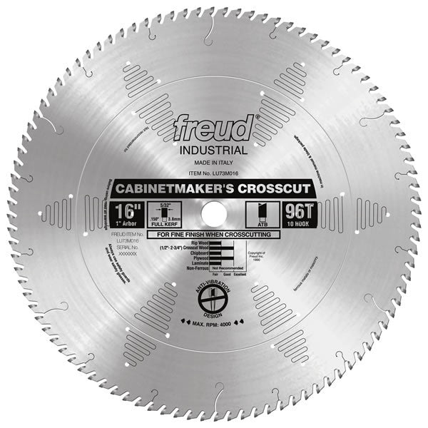 LU73M016 Freud Cabinet Maker's Crosscut Saw Blade