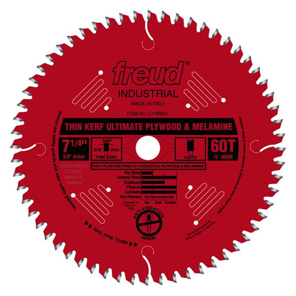 LU79R007 Freud Thin Kerf Ultimate Plywood & Melamine Saw Blade
