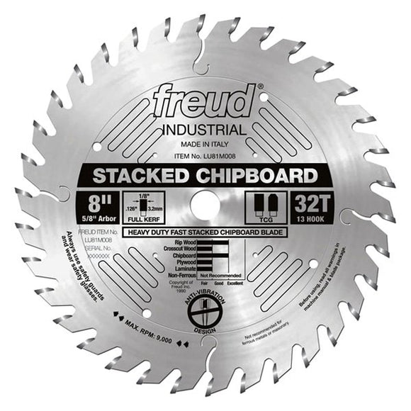LU81M008 Freud Heavy Duty Stacked Chipboard Saw Blade