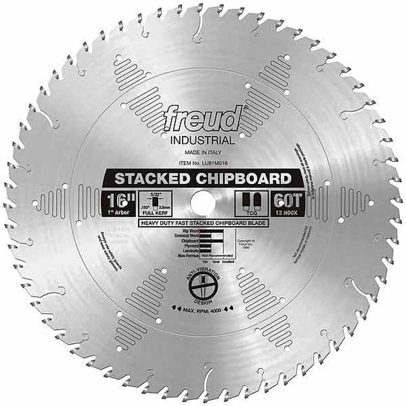 LU81M016 Freud Heavy Duty Stacked Chipboard Saw Blade