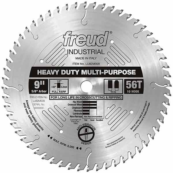 LU82M009 Freud Heavy Duty Multi-Purpose Saw Blade