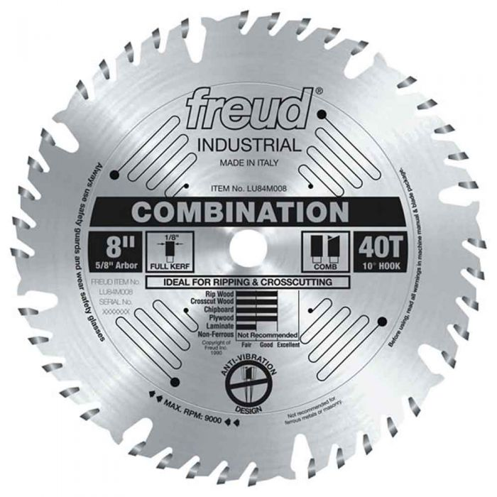 LU84M008 Freud Combination Saw Blade