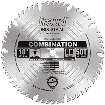 LU84M011 Freud Combination Saw Blade