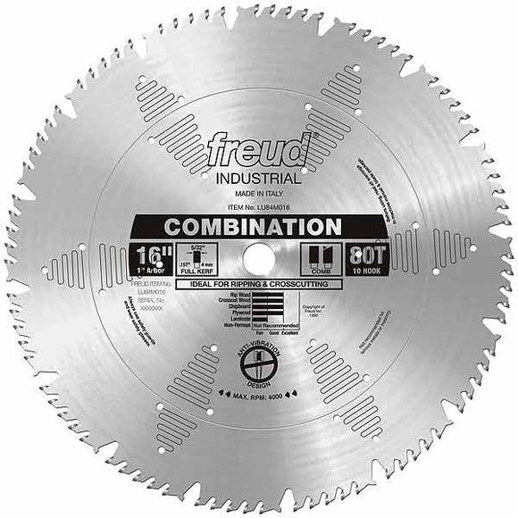 LU84M016 Freud Combination Saw Blade