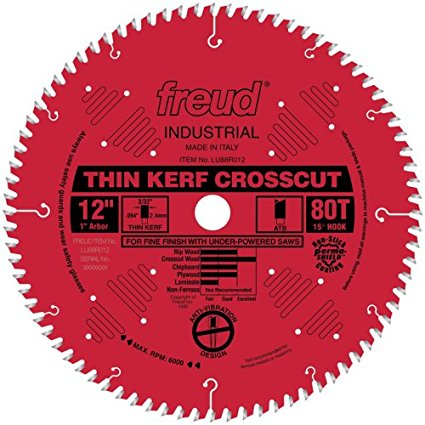 LU88R012 Freud Thin Kerf Fine Finish Cross Cutting Saw Blade