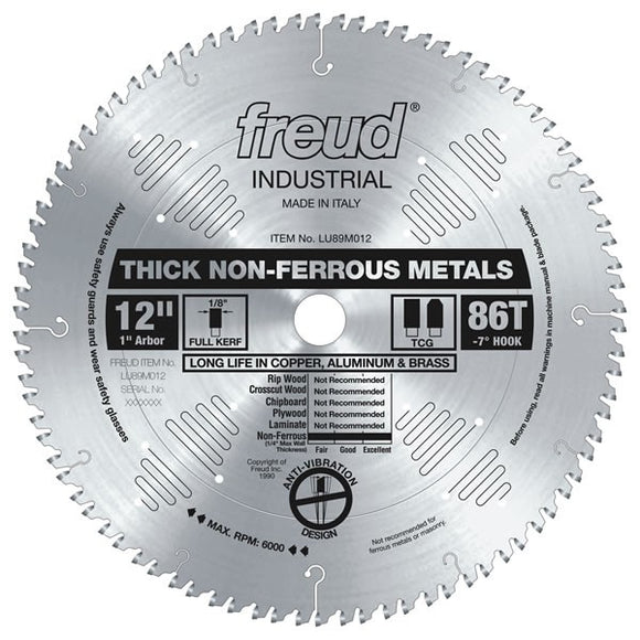 LU89M012 Freud Thick Stock Non-Ferrous Metal Cutting Saw Blade