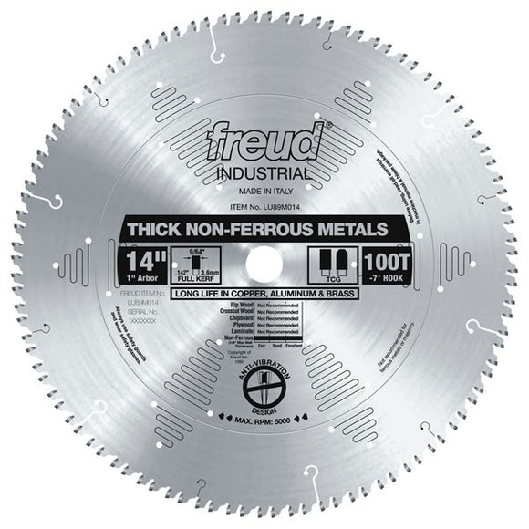 LU89M014 Freud Thick Stock Non-Ferrous Metal Cutting Saw Blade