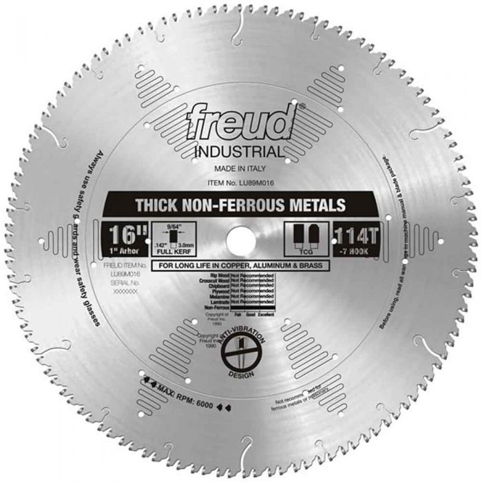 LU89M016 Freud Thick Stock Non-Ferrous Metal Cutting Saw Blade