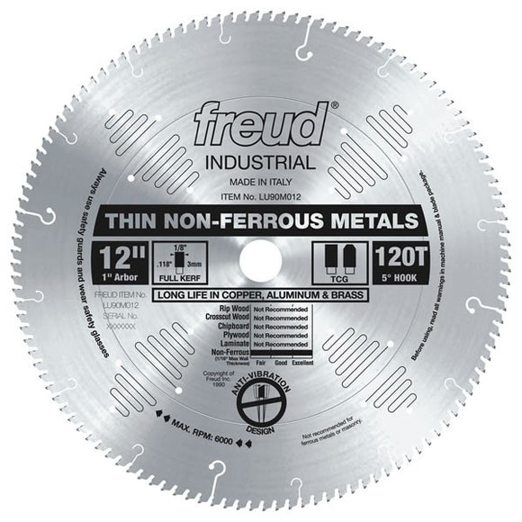 LU90M012 Freud Thin Stock Non-Ferrous Metal Cutting Saw Blade