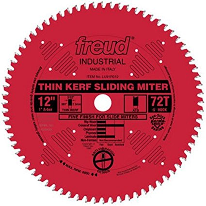 LU91R012 Freud Thin Kerf Sliding Compound Miter Saw Blade